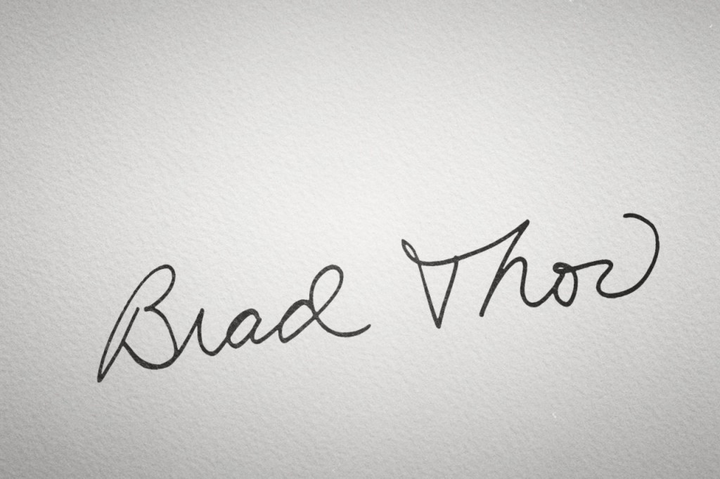 Brad Thor Signature