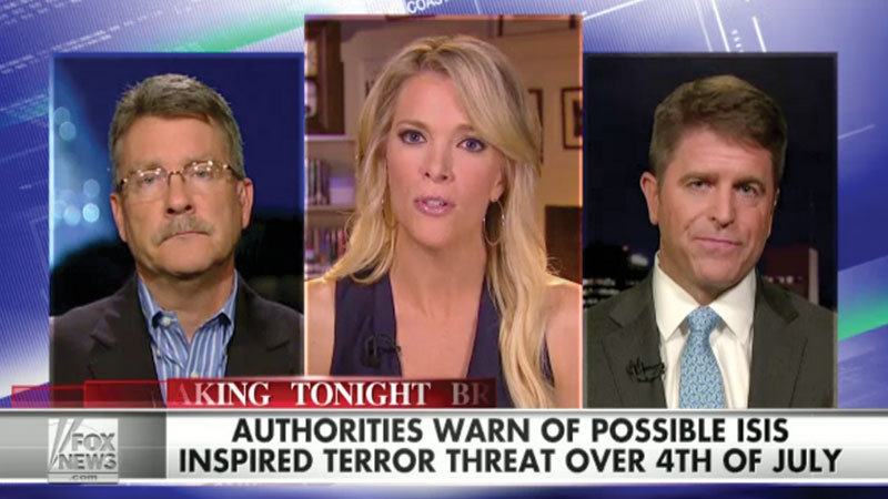 Brad discusses terror threats on The Kelly File